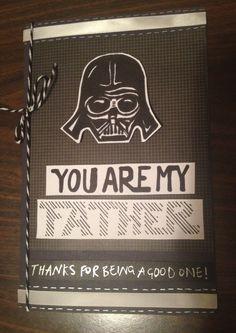 Fathers day card - Star Wars geek - Darth Vader