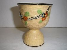 VINTAGE BASKETWEAVE DOUBLE EGG CUP HAND PAINTED FLORAL JAPAN MARK