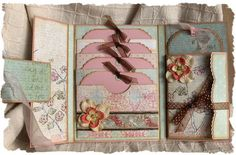 Homemade trifold card with lots of pockets.  This would be a great way to present gift cards!