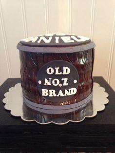 Jack Daniels cake, Whiskey cake, Whiskey birthday, barrel cake