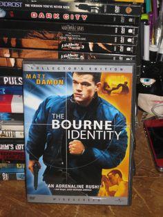 THE BOURNE IDENTITY (DVD, 2003, MATT DAMON)