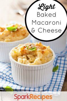 Baked Macaroni and Cheese. My all-time favorite lighter mac and cheese ...