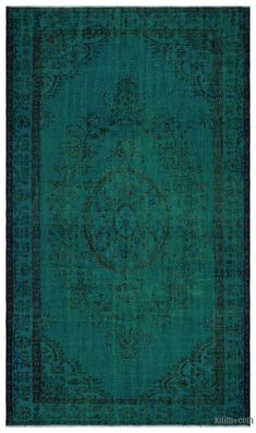 Green Over-dyed Turkish Vintage Rug - x in. x 112 in. Creative Decor, Vintage Rugs, Backdrops, Area Rugs, Carpet, Design Inspiration, Crafts, Travel System, Green
