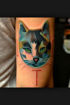 Symetric tattoo cat