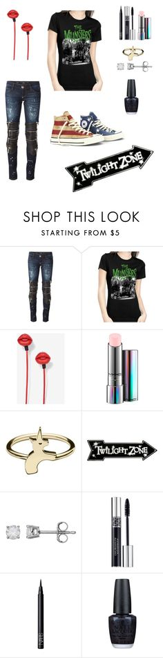 """Fun set♡"" by bobthechob ❤ liked on Polyvore featuring Philipp Plein, MAC Cosmetics, Converse, Christian Dior, NARS Cosmetics and OPI"