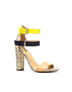 I want these more than I could possibly say...  Zara; shoes; snakeskin; neon yellow; black; tan.