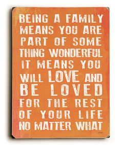 ArteHouse Being a Family Wood Wall Sign | zulily