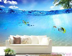 Underwater Wall Mural underwater wall mural & sea life wall mural - youtube | underwater