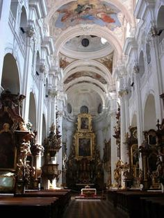 Inside a beautiful church