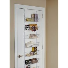ClosetMaid Hanging Overdoor Organizer & Reviews | Wayfair Over The Door Organizer, Hanging Organizer, Closet Shelf Dividers, Closet Organization, Wire Shelving, Adjustable Shelving, Behind Door Storage, Clothes Storage Systems, Large Storage Units