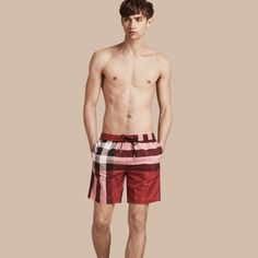 fd3410015a4e0 Check Swim Shorts Burberry Men, Burberry Shoes, Swim Shorts, Swim Trunks,  Ink