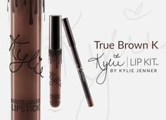 True Brown K | Lip Kit Contains: 1 Matte Liquid Lipstick (0.11 fl oz./oz. liq / 3.25 ml) and 1 Pencil Lip Liner (net wt./ poids net .03 oz/ 1.0g) The #KylieCosmetics LipKit is your secret weapon to create the perfect 'Kylie Lip.' Each Lip Kit comes with a Matte Liquid Lipstick and matching Lip Liner. True Brown K is a deep chocolate brown. This ultra-long wearing lip liner has a creamy texture that glides across the lips for a very easy and comfortable application. The Lip Liner sharpens eas