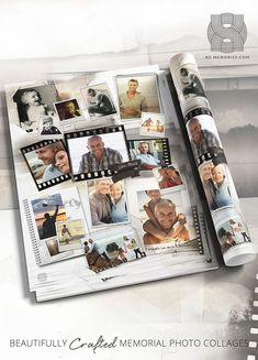 Shop our range of beautifully crafted XO Memories Memorial Photo Collage Templates Photo Collage Design, Photo Collage Template, A Blessing, Funeral, First Love, Finding Yourself, Photo Wall, Memories, Templates