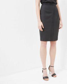Wrap detail pencil skirt