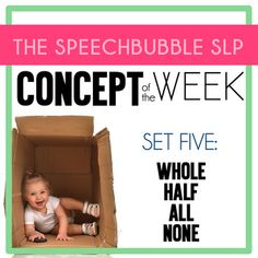 Basic concepts are essential building blocks of language. When children are delayed in acquiring these words, it can make simple tasks challenging and frustrating for them. We know frequent and consistent repetition of information is always best when teaching a new skill. So why not do it when we teach basic concepts? Now you can have a resource that allows you to target specific concepts all week! #slp #speechtherapy