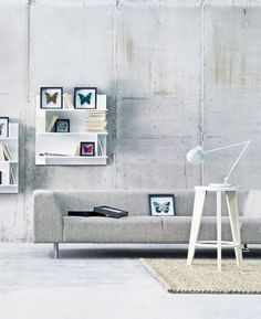 Raw modern minimalistic living room