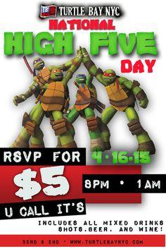 National High Five Day Thursday, April 16th April 16, 2015