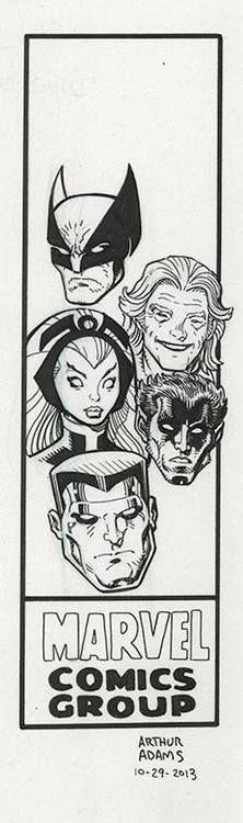 X-Men corner box art by Art Adams