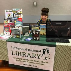 Our friends from @timberlandlibrary are here @olycomicsfest! Be sure to stop by and say hi! #timberlandregionallibrary #trlolywa #olywa #comics #olycomicsfest #mymixx96
