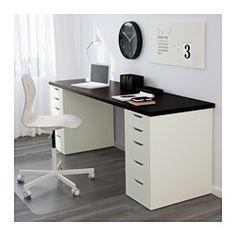 IKEA - ALEX, Ladeblok met lades, wit, , Blokkeerstukken voorkomen dat de lades te ver worden uitgetrokken.De achterkant is helemaal afgewerkt, dus je kan dit meubel ook middenin de ruimte zetten.