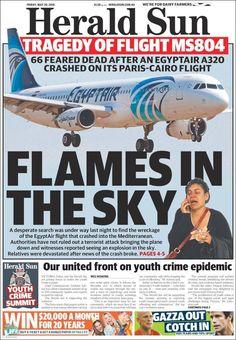 #20160520 #AUSTRALIA #AustraliaTodayNEWSpapers20160520 Friday MAY 20 2016 http://en.kiosko.net/au/2016-05-20/ <+> #MELBOURNE #HeraldSun20160520 http://en.kiosko.net/au/2016-05-20/np/herald_sun.html