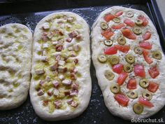Fotorecept: Focaccia - talianska chlebová placka - My site Slovak Recipes, Italian Recipes, How To Make Bread, Food To Make, Pizza, Cooking Recipes, Healthy Recipes, Bread And Pastries, Ciabatta