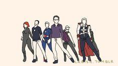 If Avengers were a boy band/girl band/co-ed band.......