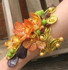 Intricate Corsage Instead of a Traditional Bouquet