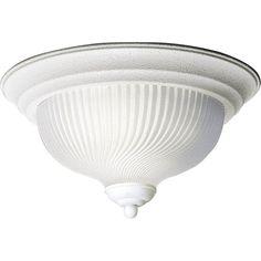 """Progress Lighting P3536 Swirled Glass Series 11-3/4"""" Two-Light Flush Mount Ceili White Indoor Lighting Ceiling Fixtures Flush Mount"""