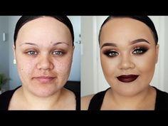 Classic Fall Makeup Tutorial | Gold & Brown Smokey eyes w/ Dark Maroon Lip - YouTube