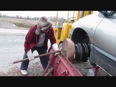 """We do not, I repeat, do not, recommend this technique but in case you need a """"what the what?"""" moment, this will suffice.    Woodturning with 150hp lathe -Crazy Canadian Woodworking"""