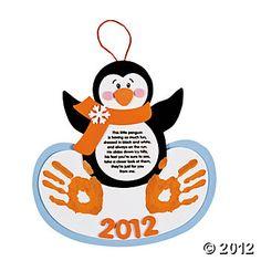 Handprint Penguin Keepsake Craft Kit, Decoration Crafts, Crafts for Kids, Craft & Hobby Supplies - Oriental Trading
