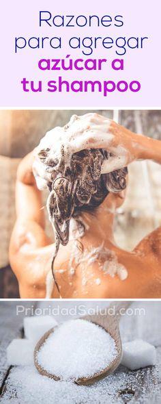 Agrega azucar a tu shampoo, haz tu champu mejor que lush, pantene, tresemme Covering Gray Hair, Cabello Hair, Extreme Hair, Belle Villa, Stop Hair Loss, Oily Hair, How To Curl Your Hair, Tips Belleza, Hair Care Tips