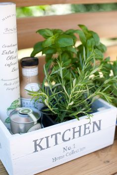 House Warming Gift For The Kitchen: Fresh Herbs, Salad Dressing, .