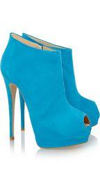 Giuseppe ZanottiSuede peep-toe platform ankle boots