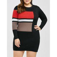 Plus Size Mini Sweater Bodycon Dress