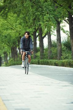 Nan joo hyuk on a bike is all I have  needed to see