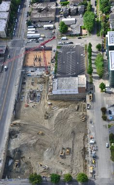Seattle in transition. Former Huling Bros. Auto Dealer complex.