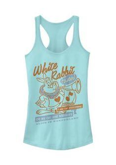 Disney Clothes, Disney Outfits, Disney Apparel, Disney Tank Tops, Magic Mirror, Disney Junior, Disney Magic, Alice In Wonderland, Rabbit