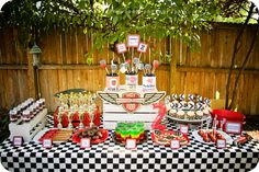 Race Car party inspiration for the big 4th bday coming up! :)