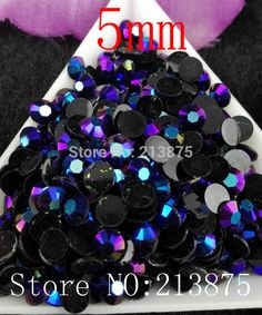 Free shipping 2500pcs Black AB  Magic color AB jelly 5mm resin rhinestones Nail Art applique strass Non hot fix SS20-in Rhinestones from Home, Kitchen & Garden on Aliexpress.com | Alibaba Group