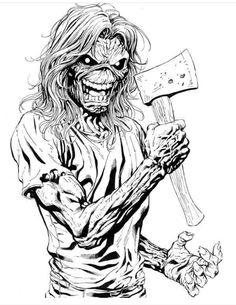 Eddie the head Heavy Metal Art, Heavy Metal Bands, Eddy Iron Maiden, Arte Horror, Horror Art, Iron Maiden Mascot, Arte Pink Floyd, Transférer Des Photos, Iron Maiden Posters
