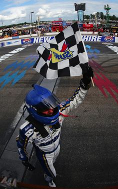 Twitter / NASCAR: Checkers! Brian Vickers wins at New Hampshire!