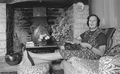 Barbara Pym photographed at home in 1979
