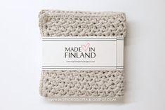 Virkad disktrasa - Crocheted dishcloth - Handmade in Finland - virkattu tiskirätti