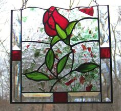 Interesting use of bevels and confetti glass.