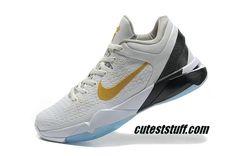 e9794ef5bc08 Nike Zoom Kobe 7 Elite Home White Gold 511371 100 Cheap Kobe Bryant Shoes