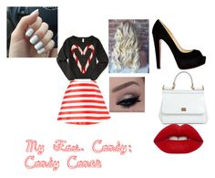 """Fav.Candy"" by alejandra-22 ❤ liked on Polyvore featuring beauty, Aéropostale, VIVETTA, Christian Louboutin, Dolce&Gabbana, Lime Crime and candy"