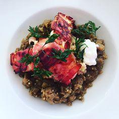 zumKochen: Warmer Auberginenkaviar mit Fregola Sarda und Scha... Couscous, Zucchini, Chili, Bbq, Curry, Meat, Food, Caviar, Fennel