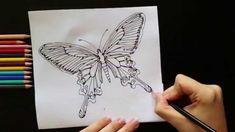 Vlinder kleuren met aquarel-effect - Kleuren voor volwassenen